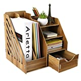 Schreibtischorganizer Tisch Organizer Aufbewahrungsregal Schreibtischbox aus Holz DIY Aufbewahrungsbox gut organisiert für Büro, Haushalt und Schule