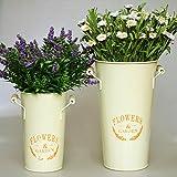 Hogar jardín decoraciones flor cubo