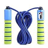 JayTop Springseil Speed Rope Mit Zähler Und Komfortablen & Anti-Rutsch Griffen für Workout, Crossfit, Boxen, Training Und Fitness