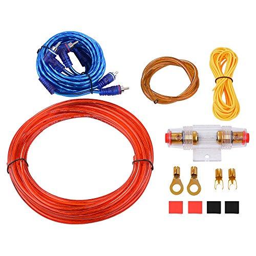 XCSOURCE 10 GA Car Audio ampššre Cavo di alimentazione del subwoofer amplificatore Cablaggio 4.0m Set con AGU FUSE 60A per auto per veicolo Audio Stereo MA663