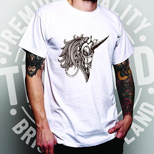 Gothic Armored Einhorn Alternative Graphics Design Cooler Herren T-Shirt Black