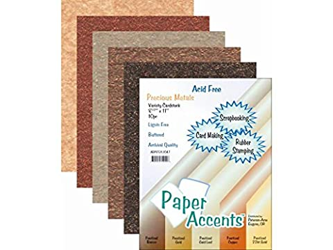 Accent Design Paper Accents ADP8511.1047 Paper Variety Pack Precious Metals