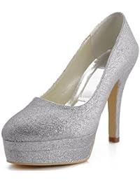 Chaussure de mariée argenté