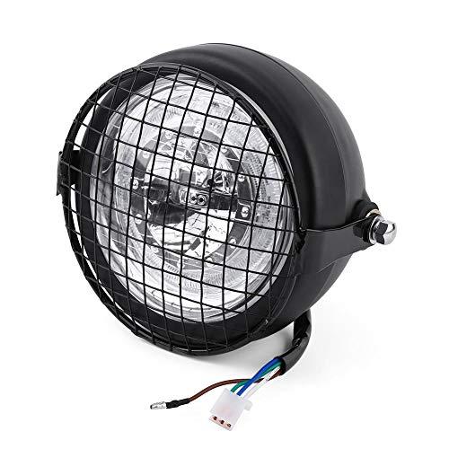 """Faros de motocicleta LED de 6.5\""""- Faros Faros de luz con cubierta y soporte de parrilla de metal"""