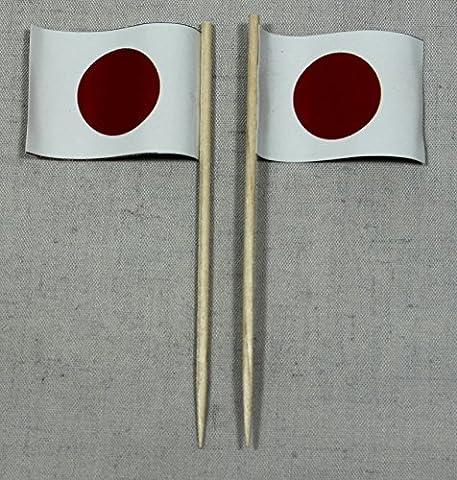 Party-Picker Flagge Japan Papierfähnchen in Profiqualität 50 Stück Beutel Offsetdruck Riesenauswahl aus eigener Herstellung