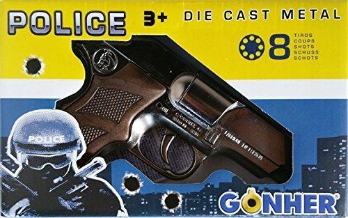 Pistola finta in metallo revolver polizia giocattolo