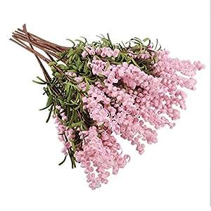 10 pcs Artificial Lavender Flowers no Vast for Home Decor Shop Decoration(pink)