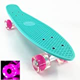 Wonnv LED Skateboard Complet Mini Cruiser 56cm