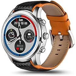 samLIKE 丨 lemfo lem51+ 8G Smart Watch 丨 Teléfono Cover-Mate 丨 Podómetro ✚ Detección de frecuencia Cardíaca 丨 con Ranura de Tarjeta SIM 丨 GPS de posicionamiento 丨 210mm x 21mm, ⭐️ Silber