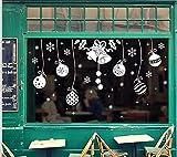ZBYLL Ventana De Navidad Pegatinas Decoraciones De Navidad Santa Claus Regalos Decoración De Las Ventanas De Vidrio