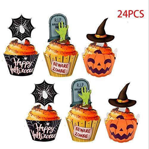 Cupcakes Halloween Einfach - KungFu Mall 24 Stück Halloween Cupcake