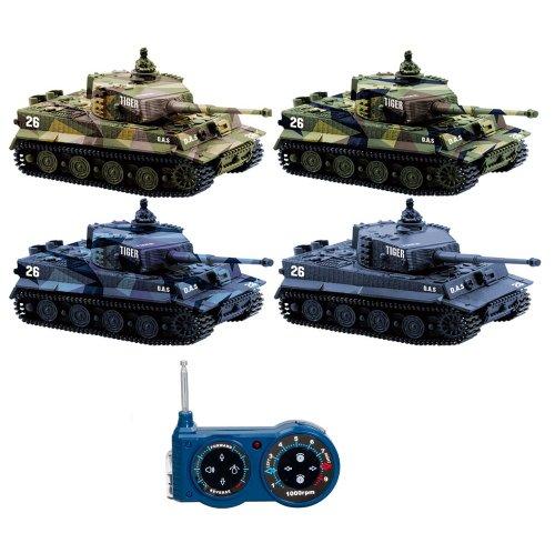 German Tiger I-RC R/C Mini tanque teledirigido, Tank, cadena Vehículo, balas, sonido, luz, nuevo, 1: 72, balas Simulación Sonido, iluminación, Nuevo