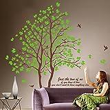 ufengke® Xlarge Romantisches Paar Baum Wandsticker,Wohnzimmer Schlafzimmer Entfernbare Wandtattoos Wandbilder, Set von 2 Blatt