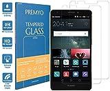 [2 Pièces] PREMYO verre trempé Mate S. Film protection Huawei Mate S avec un degré de dureté de 9H et des angles arrondis 2,5D. Protection écran Huawei Mate S (un peu plus petit que l'écran aux bords incurvés)