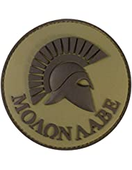Olive Drab OD Spartan Molon Labe Green US Navy Seals Morale Tactical PVC Rubber Fastener Patch