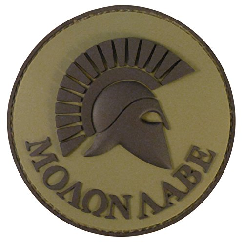 2AFTER1 Olive Drab OD Spartan Molon Labe Green US Navy Seals Morale Tactical PVC Rubber Fastener Patch Seal Team 2 Patch