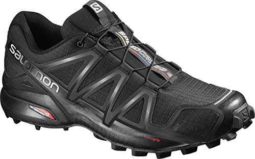 Salomon Speedcross 4, Zapatillas de Trail Running para Hombre, Negro Black/Black/Black Metallic, 43...