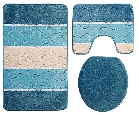 Orion Ensemble salle de bain 3pièces Turquoise 50x 80cm Bleu