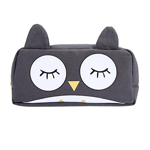aipark búho caja de lápiz caso lápiz bolsas de cosméticos bolsa de viaje para maquillaje bolsa de almacenamiento