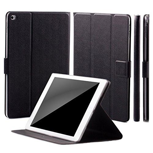 iCues Apple iPad Mini 4 Manzano Bolsa   360 Hippo la función del Soporte Negro   Soporte Prima Extra Ligero de Cuero Muy Fino - Libro bisagras Caja Protectora de la m Funda Carcasa Bolsa Cover Case