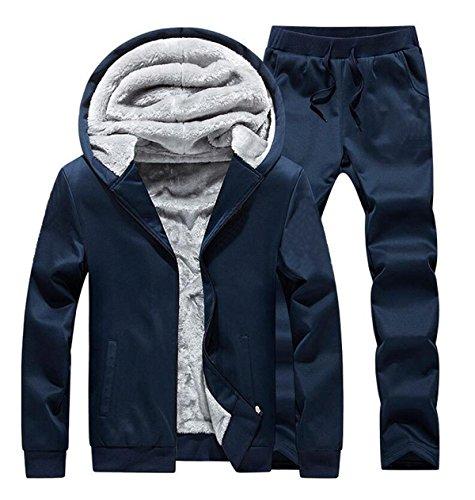 XXZTQ Abbigliamento Casual Per Uomo Vestito Di Sport Leggeri Blue