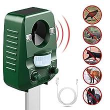Impostazioni di frequenza Questo repellente permette di modificare le frequenze in uscita, in modo da avere la soluzione migliore per i vostri problemi di fastidio . In basso è riportata la lista per ogni tipo di animale che questo repellente può con...