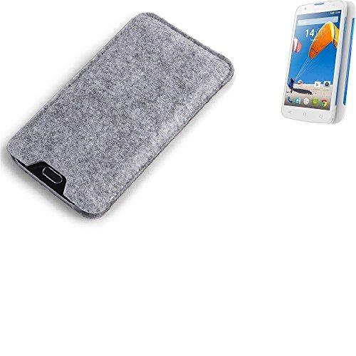 K-S-Trade Filz Schutz Hülle für MobiWire Taima Schutzhülle Filztasche Filz Tasche Case Sleeve Handyhülle Filzhülle grau