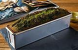 BIANJESUS Muffa della Torta Rettangolare Piccolo Stampo per Il Pane Home Bakery Frutta Striscia di Cottura Strumenti Fai da Te Forma di Latta Antiaderente Rivestito in Scatola di Alluminio