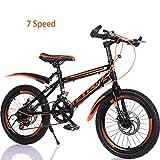 Bike Enfant Vélo 7 Vitesses Bicyclette 18In 20In BMX,Frein À Disque,Lumière Et Modernité Vélo De Montagne,Orange1,18In
