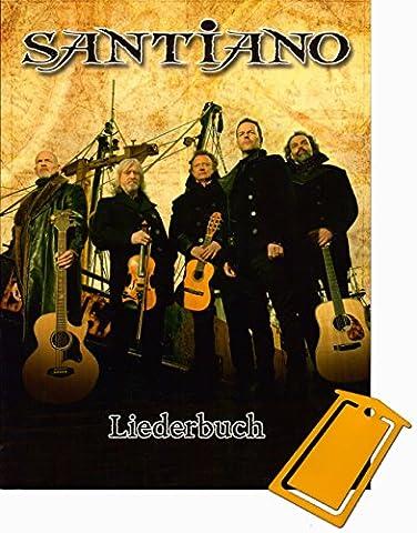 Santiano Liederbuch Klavier/Gesang/Gitarre (Noten/sheet music] mit praktischer Notenklammer (Service Macht Den Unterschied)