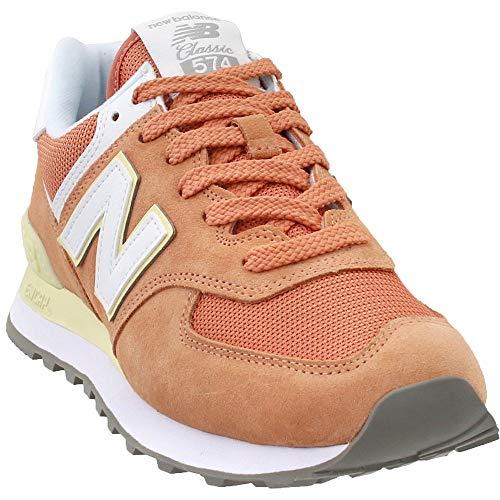 New Balance WL574-B Sneaker Damen orange/weiß, 7.5 US - 38 EU - 5.5 UK (Frauen-tennis-schuhe)