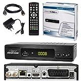 Ricevitore satellitare ✨ HB DIGITALE DVB-S/S2Set: MICROELECTRONIC Micro Ricevitore M310Plus DVB-S/S2+ Funzione cavo HDMI con Ethernet e Connettori Placcati Oro (HD Ready, HDTV, HDMI, Scart, USB 2.0, LAN, S/PDIF e IR uscita)