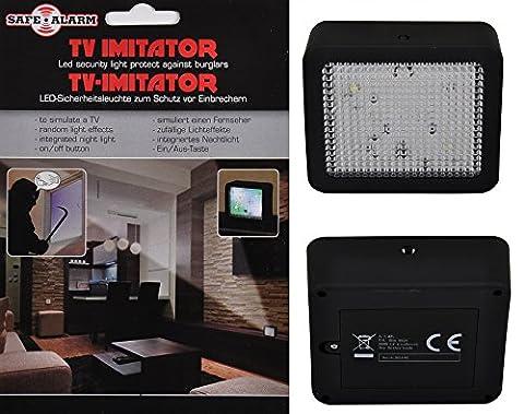 TV Simulator Imitator with LED Security Light 25 x 70 x 80mm