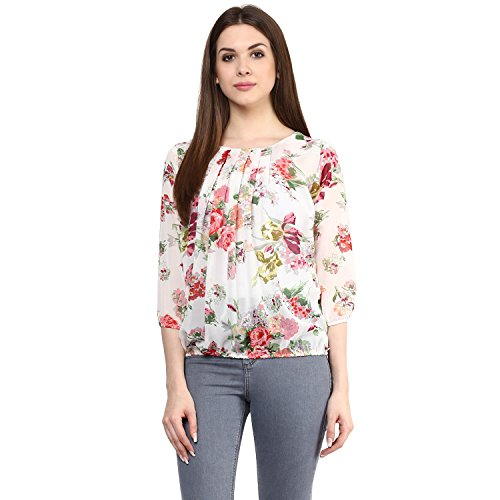 Mayra Women's Georgette Top(M1608T09523_S, Pink )