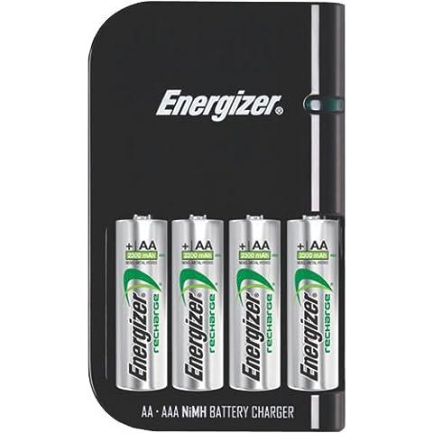 Cargador de batería, recarga 4 pilas AA o 4 pilas AAA en 30 min.