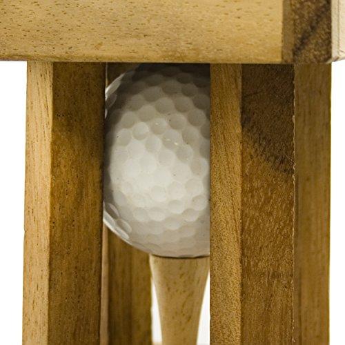 Woods Handicap – Das Golfrätsel –Personalisiert mit [Text] – Knobelspiele aus Holz inkl. Golfball – Lustige Golf Geschenke – Geschenke für Golfer – Golfball Geschenk – Geschenkpackung für Golfbälle - 4