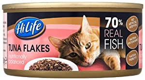 Hilife Canned Cat Food Tuna Flakes 170 G Pack Of 24 by Town & Country Petfoods Ltd