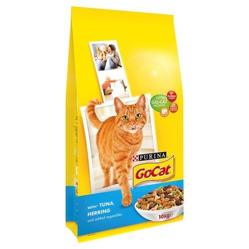 Go-Cat Dry Cat Adult Food Tuna, Herring and Vegetable, 10 kg