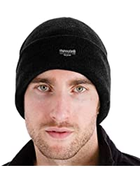 Mens Thinsulate Beanie Turn Over Bob Hat - Black