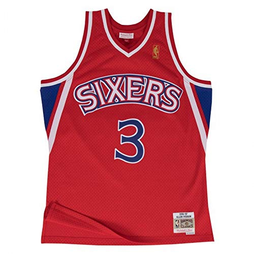 Mitchell & Ness - Maillot NBA swingman Allen Iverson Philadelphie Sixers Hardwood Classics Mitchell & ness Rouge taille - XL