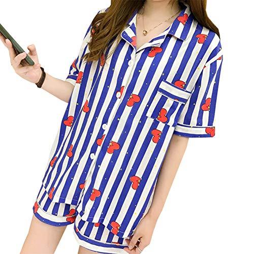 Skisneostype BTS Sommer Pyjamas, Kpop Bangtan Jungen Shorts + T-Shirt Nachtwäsche Set für The Army(M TATA) -