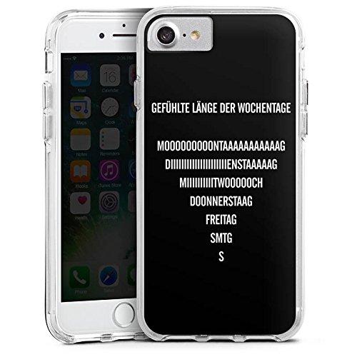 Apple iPhone 8 Bumper Hülle Bumper Case Glitzer Hülle Wochenende Vie Leben Bumper Case transparent