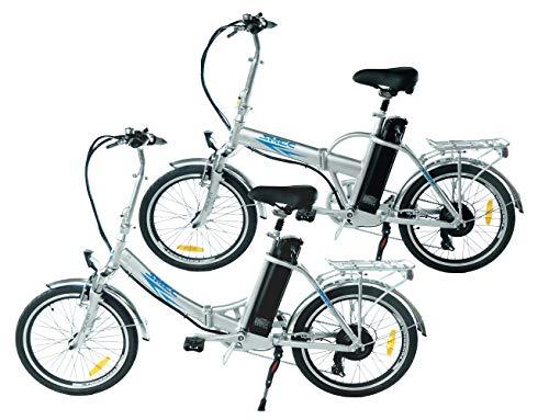 swemo EIN Paar (2 STK.) 20 Zoll Alu Klapp E-Bike/Pedelec SW100 & SW200 Neu (Silber)