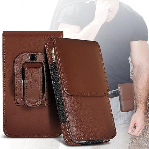 (Brown) Samsung Galaxy Pocket 2 Protection en cuir PU Support Holster Belt Cover Housse En Fone-case