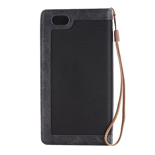 Phone case & Hülle Für iPhone 6 Plus / 6s Plus, Denim Texture Magnetic Horizontale Flip Leder Tasche mit Halter & Card Slots & Wallet & Lanyard ( Color : Magenta ) Black