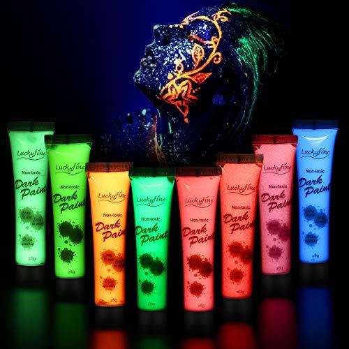 Luckyfine 8 x 28g Pintura Corporal Facial - UV Glow