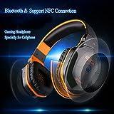 bluetooth4.1Wireless Stereo NFC Geräuschunterdrückung Gaming Kopfhörer Headsets–Über Ohr schnurlose Kopfhörer mit 3,5mm mit Kabel Audio in, NFC Wasserhahn zu verbinden und integriertem Mikrofon Kompatibel mit Smartphones, Laptops, Tablets, PS4/PS3und Xbox 360(Mikrofon ist nicht erhältlich für PS4/PS3und Xbox 360)