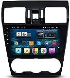LIKECAR 9 Zoll 1,6GHZ 1024*600 8G ROM Quad Core Android 4,4 AUTO GPS Navigation DVD Stereo Autoradio für Subaru Forester xv 2014 mit HD Touchscreen Lenkradsteuerung Navigation 1080P Bluetooth USB RDS Dual Zone Deutsch menu OBD Spiegel Link 3G Wifi