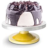 Okayji Amazing 360 Degree Rotating Cake Stand Cake Decorating Turntable, Silver & Golden