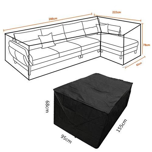 L&Q Esquina Exterior Sofá Cubierta Protectora Sofá Cubierta Impermeable Cubierta Muebles De Jardín Cubierta Oxford